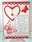 Red Hearts And Butterflies Die Cuts Pearls