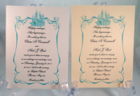 Tiffany Blue Castle With Border