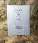 Menu Embossed And Personalized