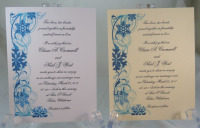 Snowflakes Side Border Blue