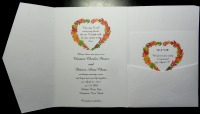Fall Leaves Heart Wreath Pocket Folder With RSVP Card