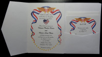 Patriotic  Red White And Blue With RSVP Card