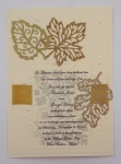 Fall Leaves Metallic On Ivory With Gold Ribbon